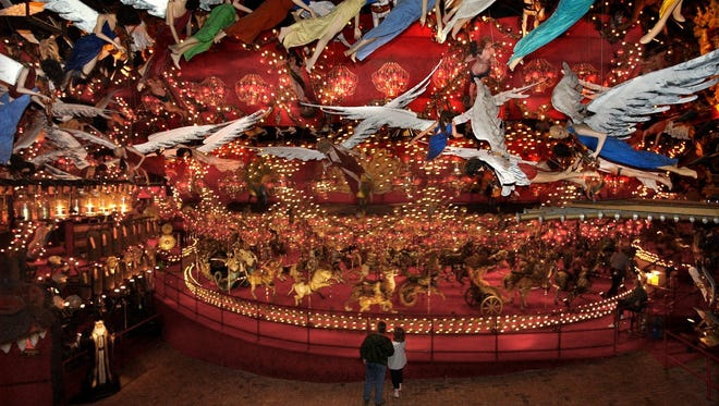 The House On The Rock near Spring Green features a giant carousel.