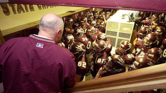Former Swain County football coach Rod White and the