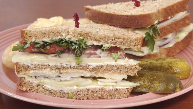 City Cafe's vegetarian club sandwich