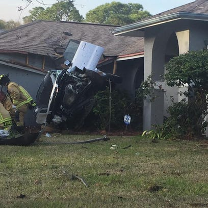 A man was critically injured after his SUV struck a