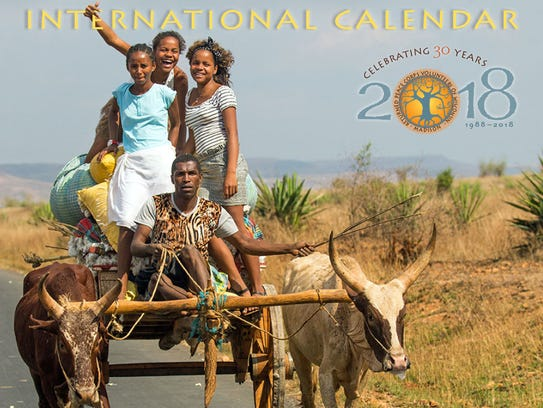 Proceeds from sales of the International Calendar are used to support local Peace Corps Volunteers with funding of basic needs projects in the countries where they are currently serving. Shown here is a scene from Madagascar for the 2018 cover of the International Calendar.