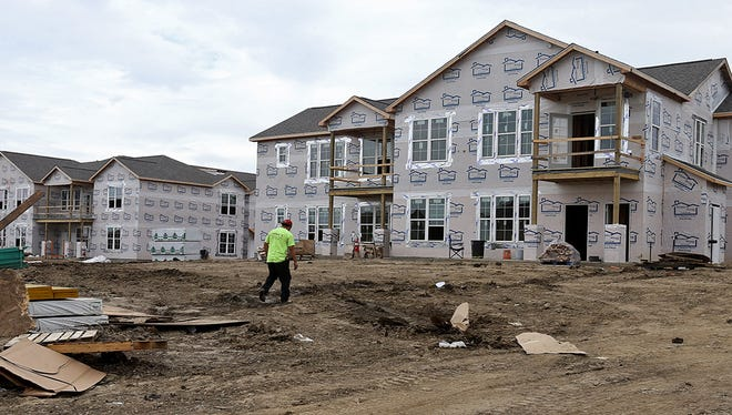 Springs at Waukee apartments were under construction in Waukee in 2014.