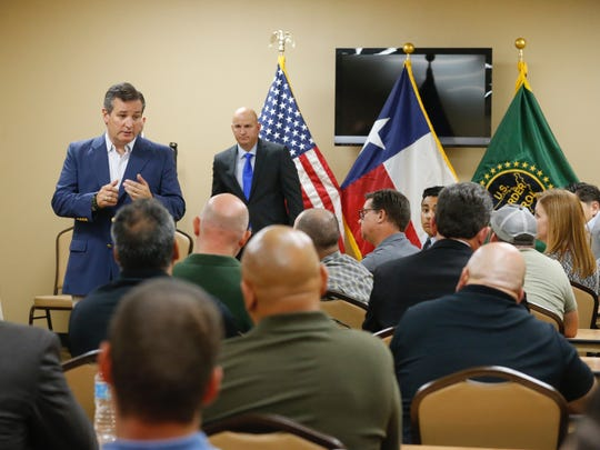 Shouting matches erupted between protesters and supporters of U.S. Sen. Ted Cruz outside an El Paso town hall meeting in August with U.S. Border Patrol agents.