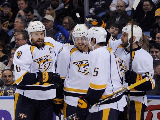 Predators Sabres Hockey