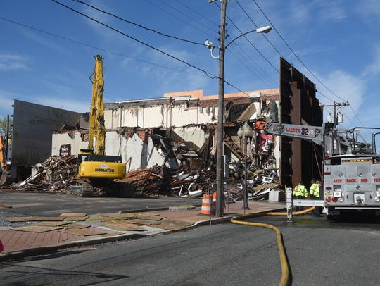 Building demolition on 109 E. Main St. in Millville