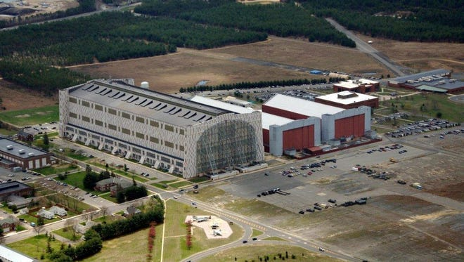 Hanger One is seen in this picture of the Lakehurst side of Joint Base McGuire-Dix-Lakehurst.