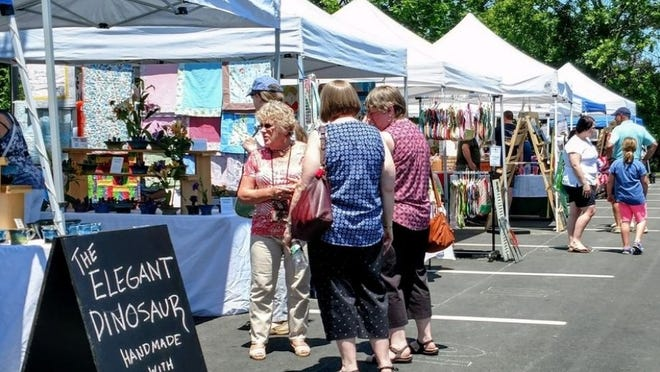 The North Andover Artisans Market at the Mills, shown in this photo from its first season in 2018, is virtual this year due to the coronavirus pandemic.
