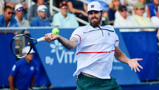 Delray Beach resident Reilly Opelka, shown here at the 2020 Delray Beach Open, is competing in the UTR Pro Match Series this weekend in West Palm Beach. It's the first professional sports game on U.S. soil in eight weeks.