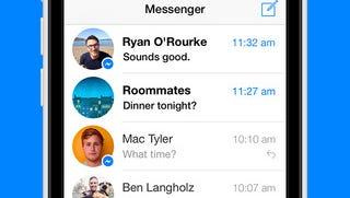 A screenshot of the Facebook Messenger app.