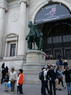 The Theodore Roosevelt statue outside the Museum of Natural History in New York