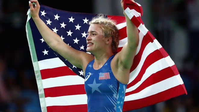 Marquette's Helen Maroulis gave the United States its first freestyle wrestling women's gold medal.