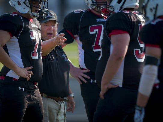 Sheridan High School head football coach Bud Wright