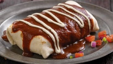 Smothered burrito from Qdoba