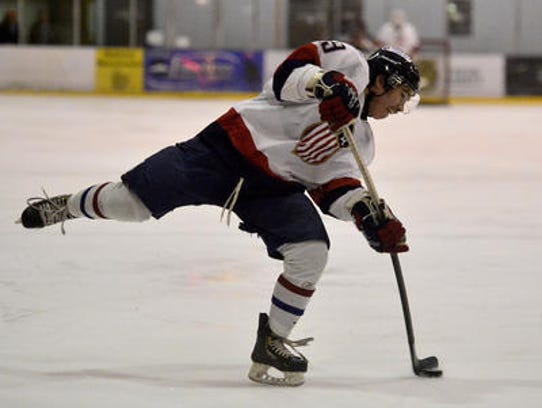 Josh Larson attempts a shot in a game against Billings