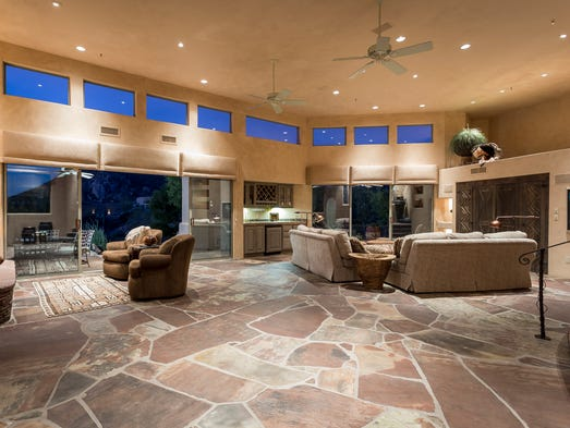 The fossil-flagstone flooring in this Scottsdale house turned off some people.