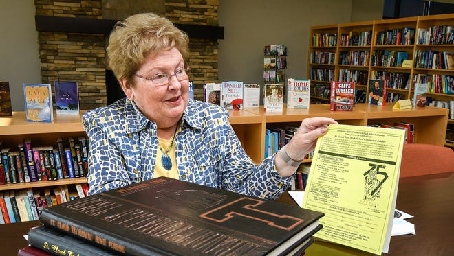 Jan Sorell, one of the charter members of the Technical High School Alumni Association, talks about the group's beginnings on Thursday, Oct. 12 at Sartell Community Center.