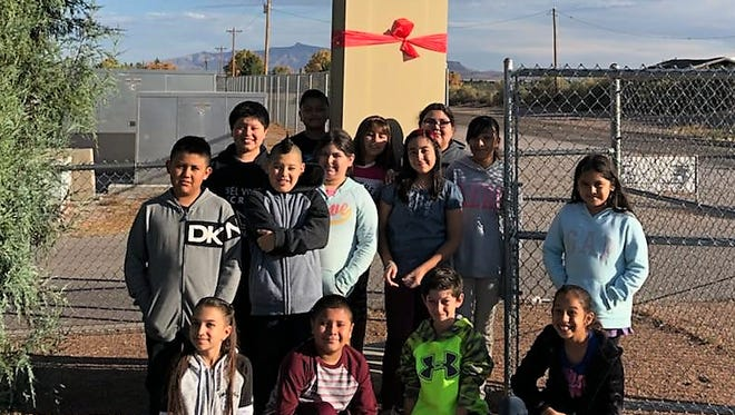 Students at Ruben S. Torres Elementary decorate in preparation for Red Ribbon Week.