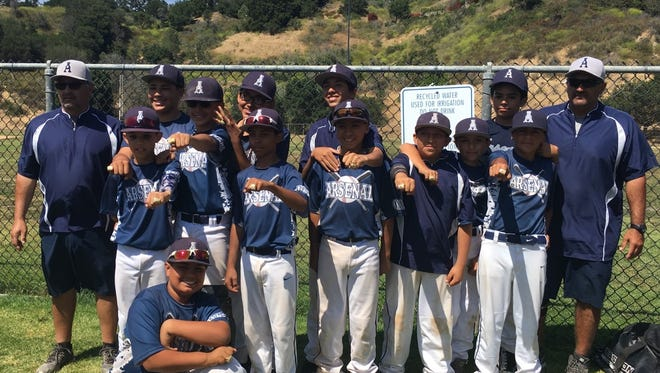 The 12U Oxnard Arsenal baseball travel team recently won two tournament championships.