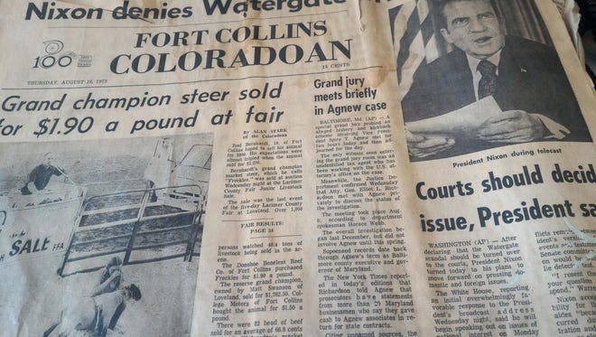 A reader dropped off the Fort Collins Coloradoan from Aug. 16, 1973.