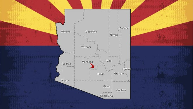 A map of Arizona's 9th Congressional District.