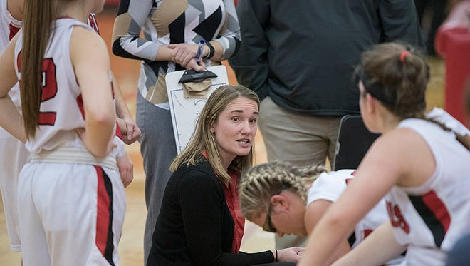 Bethany Guinther steps down after five years at the helm of the Lady Redmen.