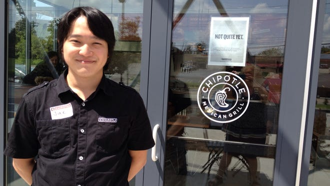 Jae Ho is the service manager at the new Chipotle Mexican Grill in Erlanger. It is expected to open for business on Aug. 31.