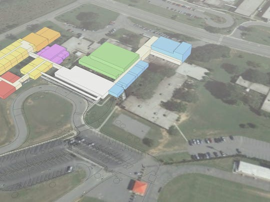 This image depicts the new footprint of Palmetto Middle