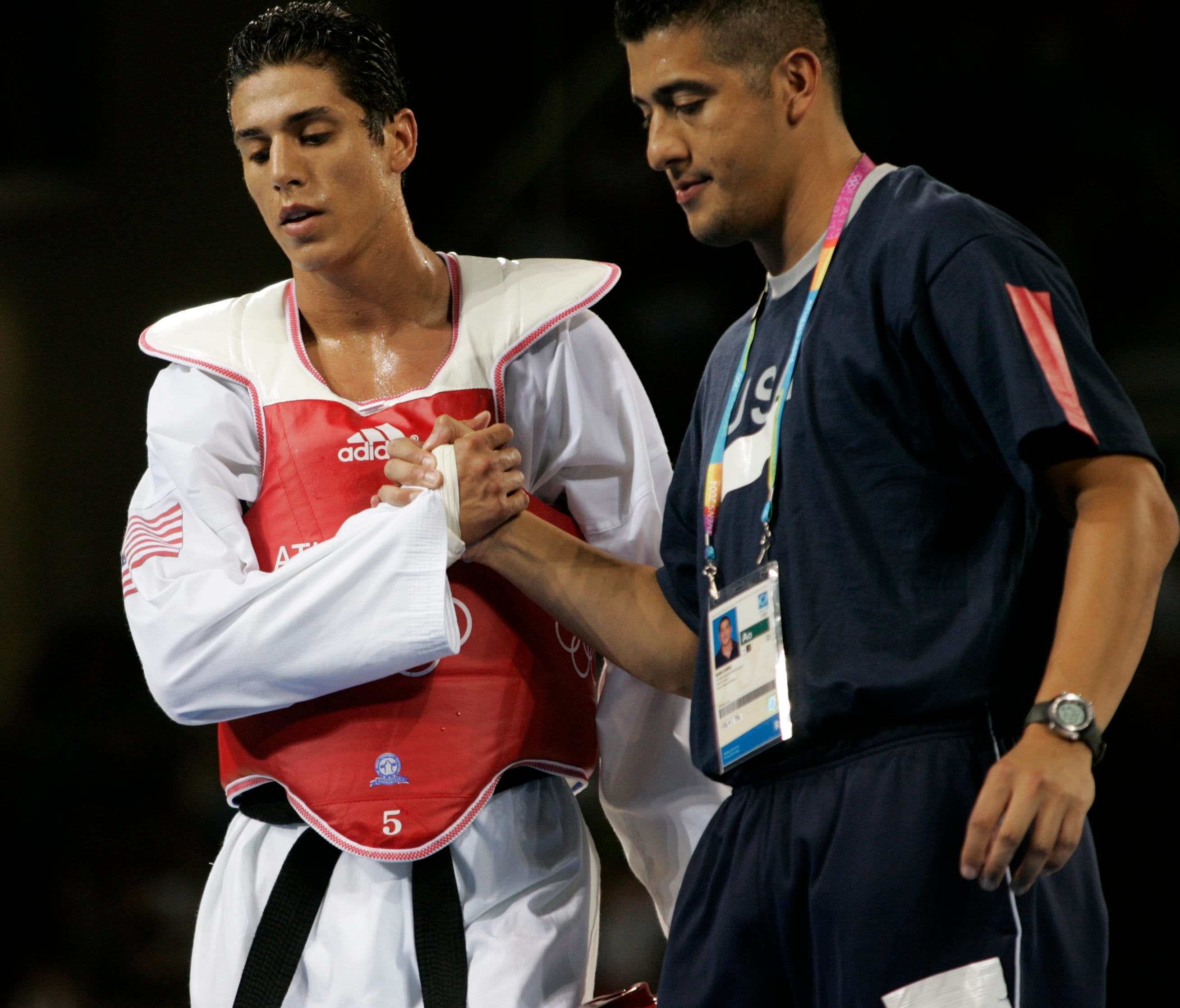 Steven Lopez, left, and his brother, Jean, have been suspended by USA Taekwondo