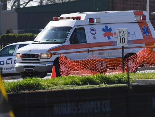 Paramedics respond to a crash involving a school bus Thursday near the Anderson Districts 1&2 Career and Technology Center near Williamston.