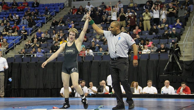 Enka graduate Daniel Ownbey won his second NCAA Division II wrestling championship earlier this month.