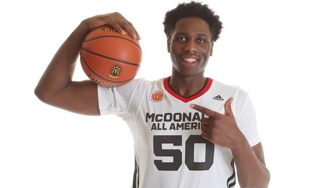 McDonalds High School All American athlete Caleb Swanigan (50) of Homestead.
