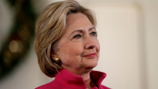 Democratic presidential candidate Hillary Clinton listens during a town hall style event Tuesday, Dec. 29, 2015, in Portsmouth, N.H.