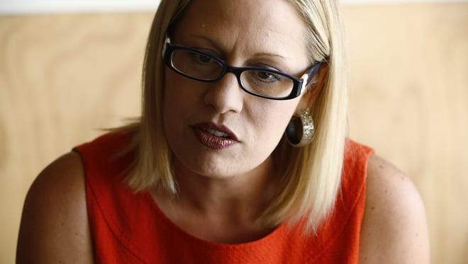 U.S. Representative Kyrsten Sinema, D-Ariz., 9th Congressional District, interview at Giant Coffee on Monday, Aug. 31, 2015 in Phoenix, AZ.