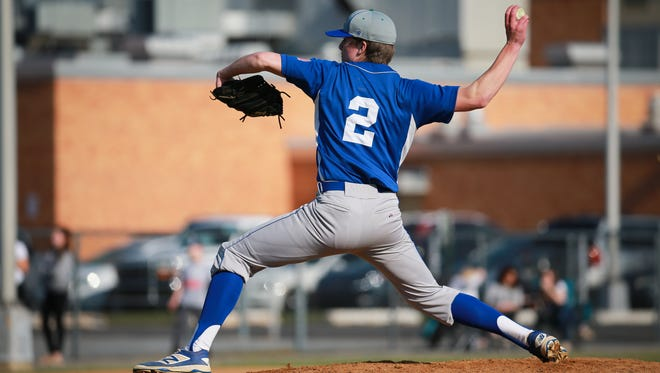 St. Georges pitcher Tyler Campbell throws a shutout as the Hawks beat William Penn 5-0.