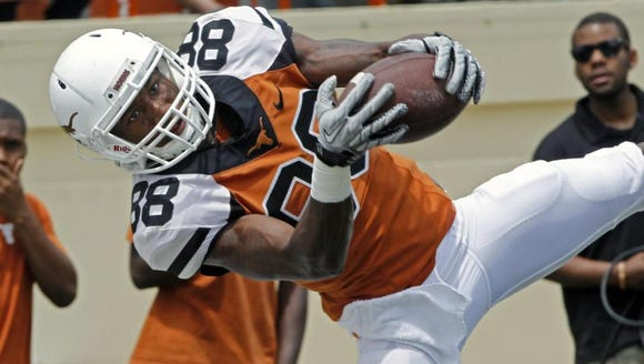 In this 2014 file photo, former Texas wide receiver