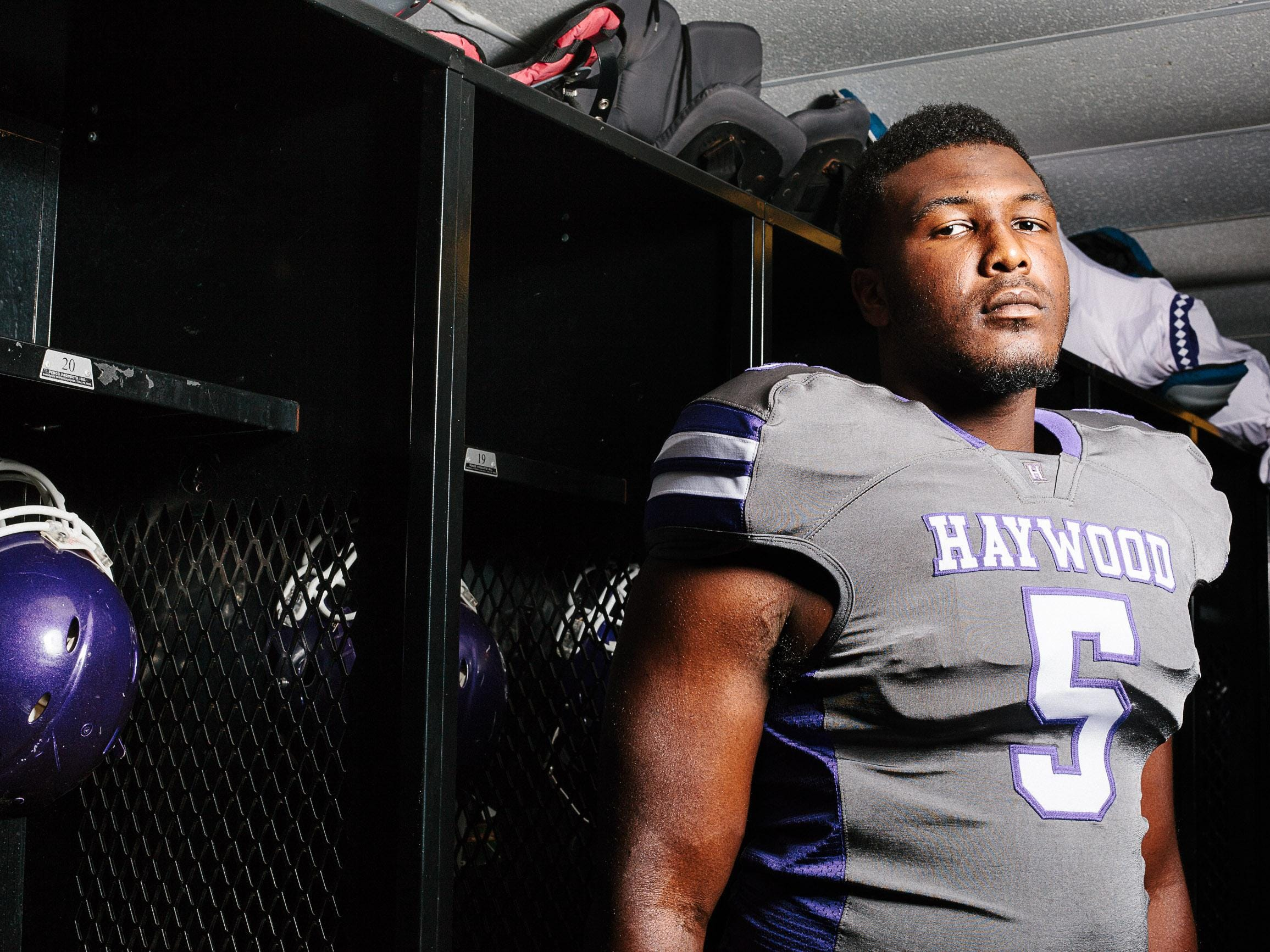 Haywood senior Emmit Gooden is a two-time All-West Tennessee first-teamer on the defensive line.