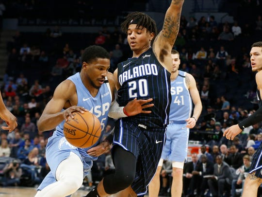 Malik Beasley drives to the basket in a game earlier this season. Beasley will be a restricted free agent and his status with the team is unclear heading into the off-season.