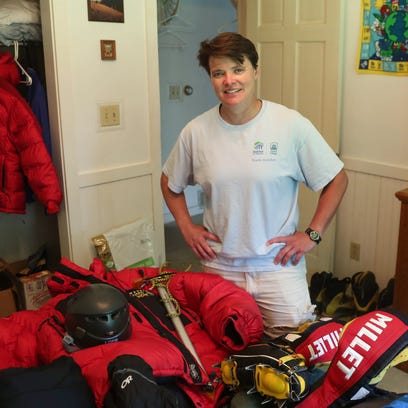 Mountain climber Jen Loeb, who recently returned from