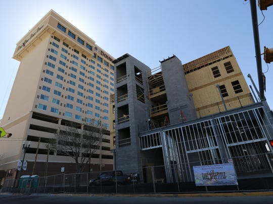 The Artspace El Paso Lofts are at 601 N. Oregon St., next to the DoubleTree hotel.