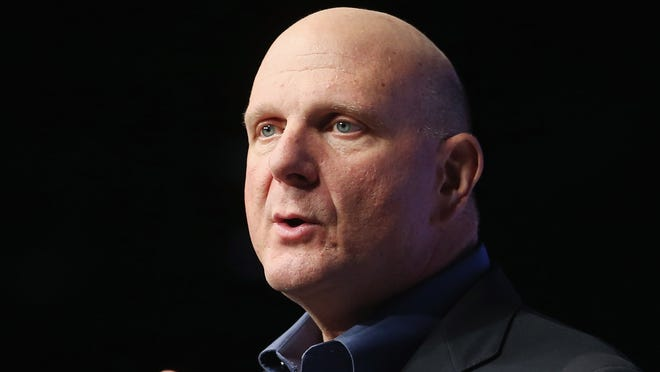 Ballmer speaks at a press conference unveiling the Windows 8 operating system on Oct. 25, 2012 in New York City.
