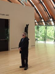 Glass artist Dale Chihuly visited the Crystal Bridges