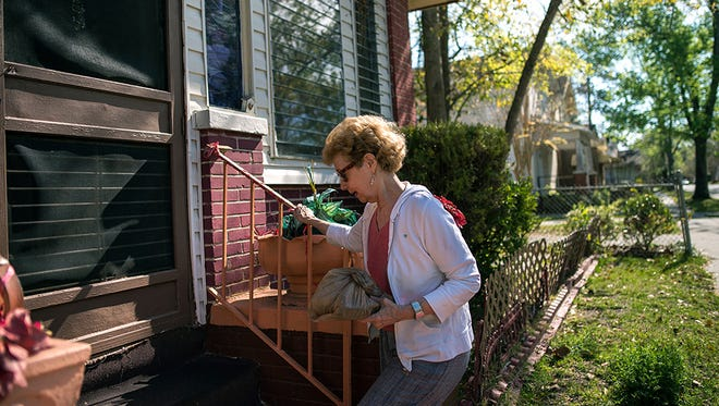 Meals on Wheels volunteer Betsy Davis in Savannah, Ga., on March 22, 2017.