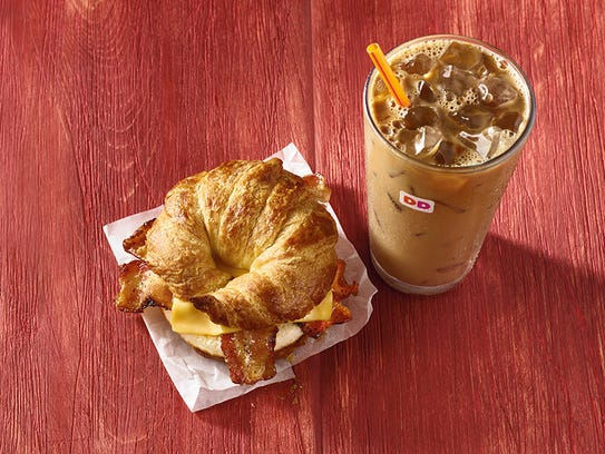 Maple Pecan iced coffee and Maple Sugar Bacon Breakfast