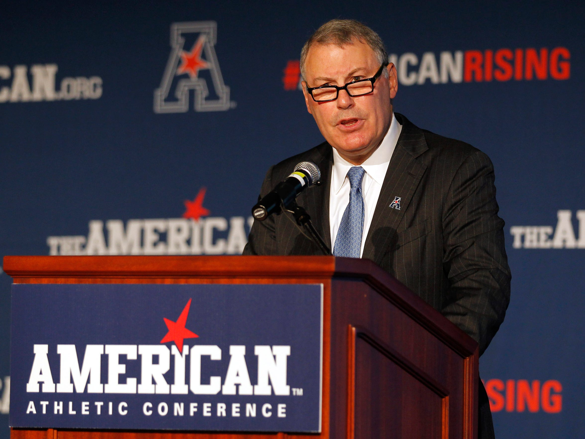 AAC commissioner Mike Aresco sees his conference rising