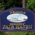 Fair Haven welcome sign.