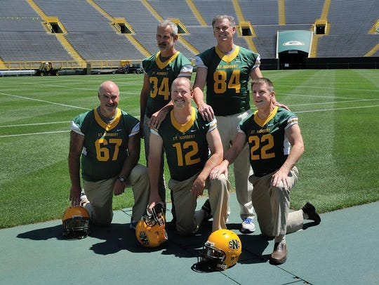 Five players from St. Norbert College's football team