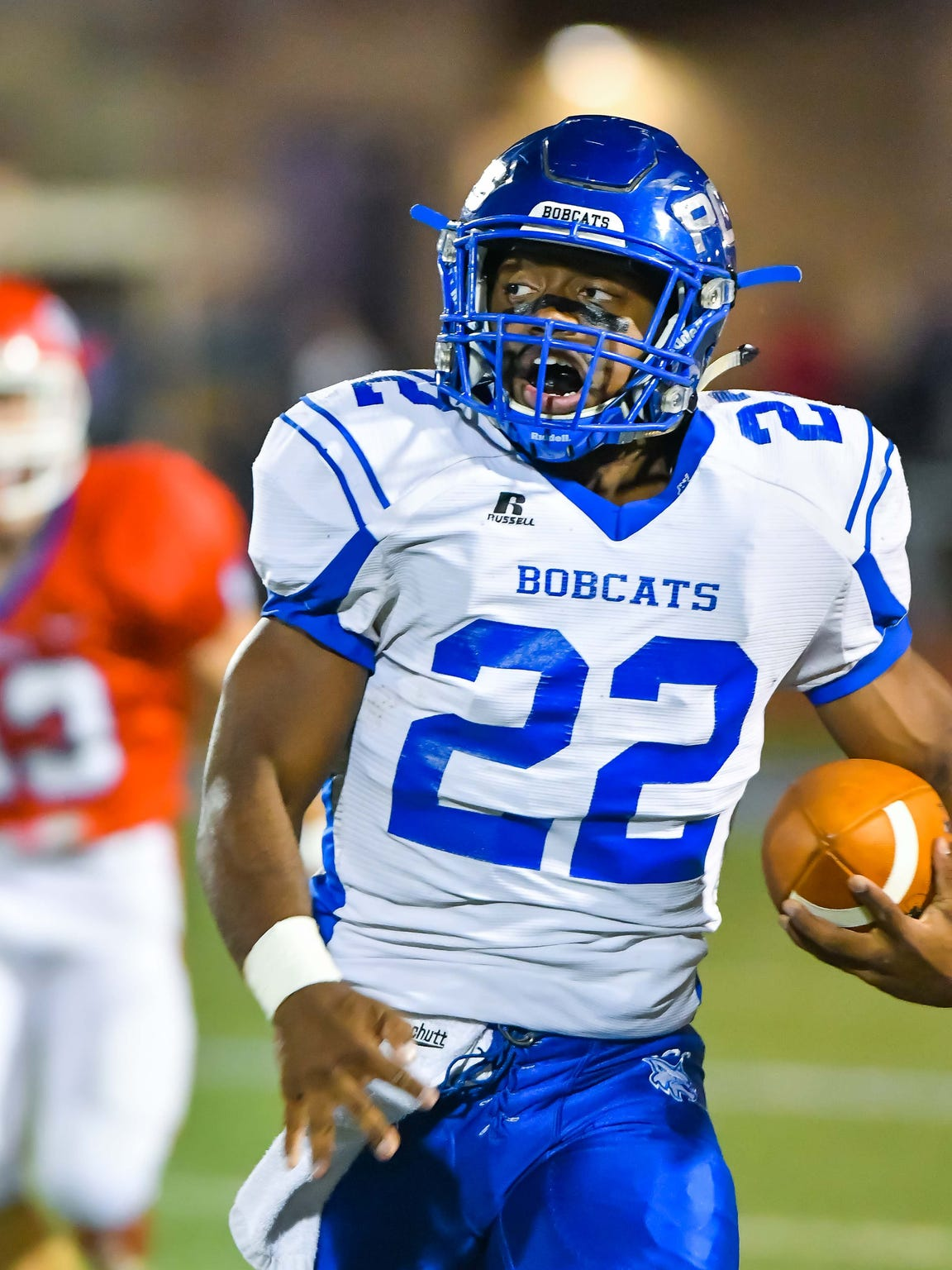 Presbyterian Christian School running back Isaiah Woullard