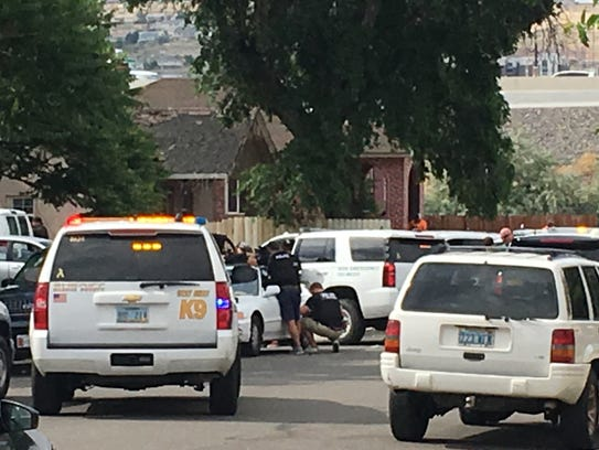 Sheriff's deputies and Reno police are engaged in an
