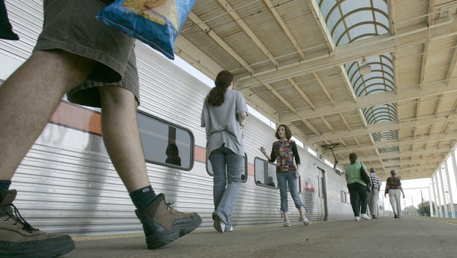 Indiana commuters could reach Chicago faster if a second track is added to a 25-mile stretch of the South Shore Line. The train line stretches from Chicago's Loop to a station at the South Bend Regional Airport, pictured here in a 2006 file photo.