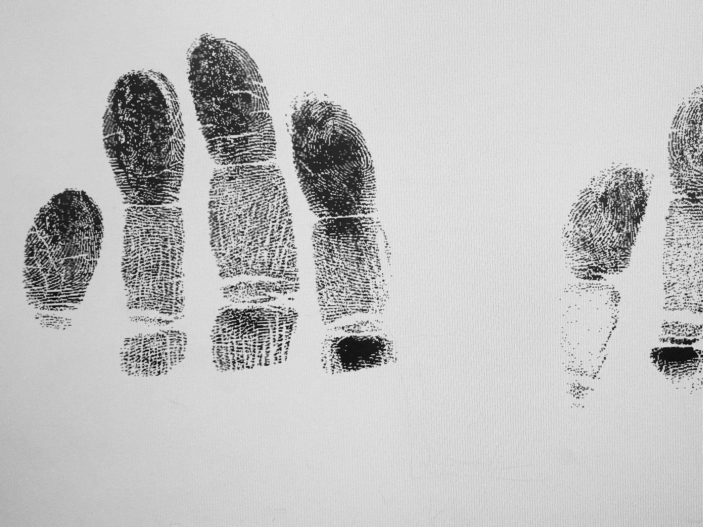 The fingerprints of a registered sex offender who committed